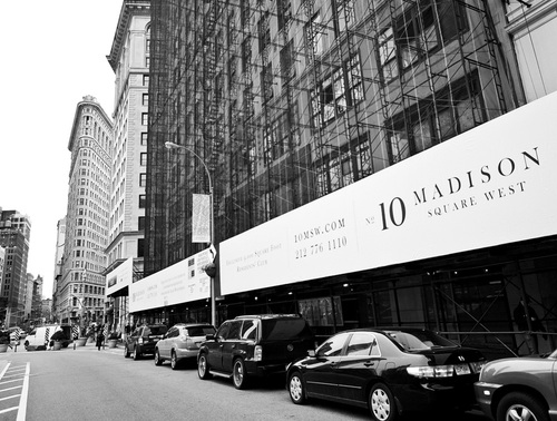 10 Madison Square West condos are under construction near Madison Square Park.