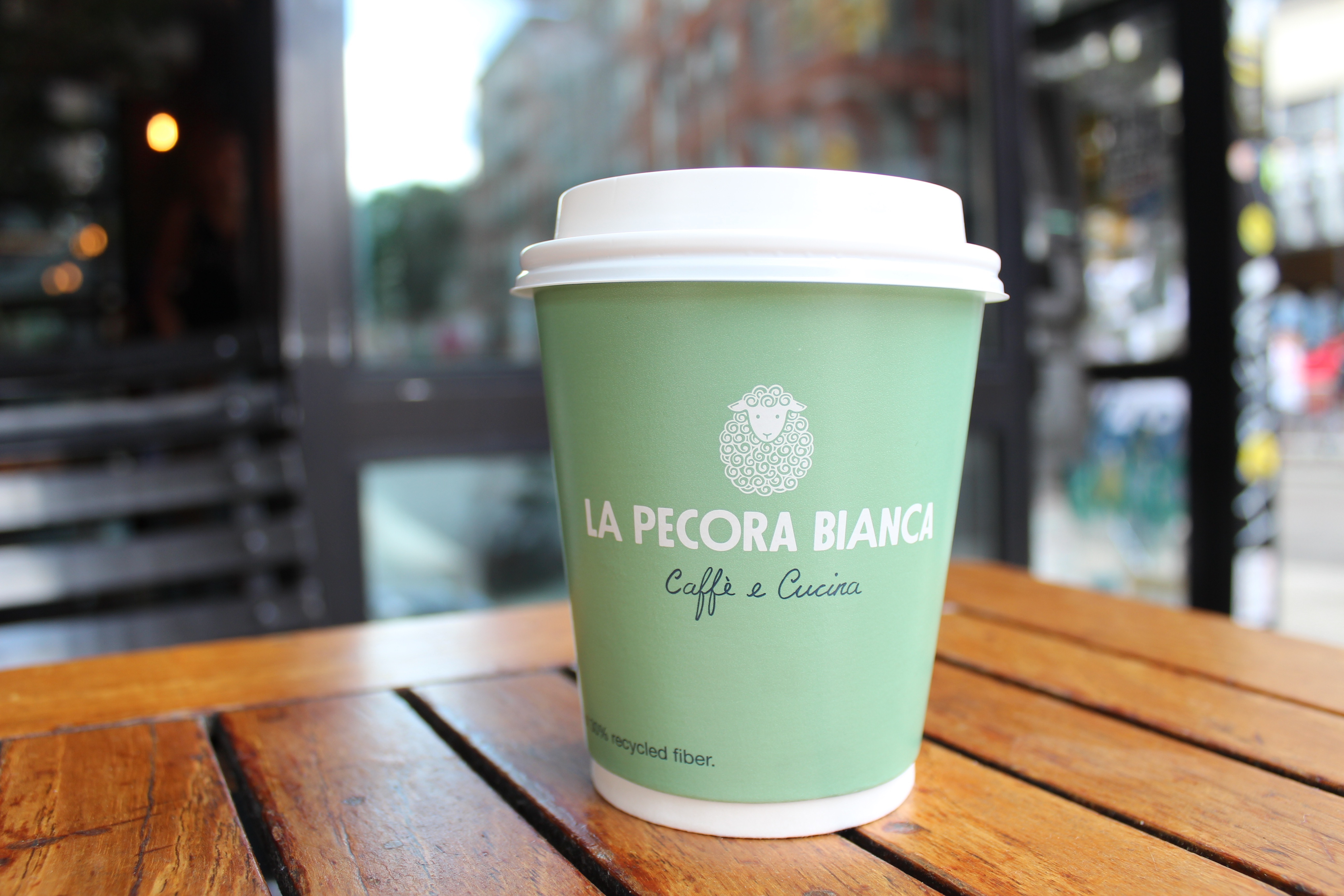 lpb coffee cup at 1133 broadway