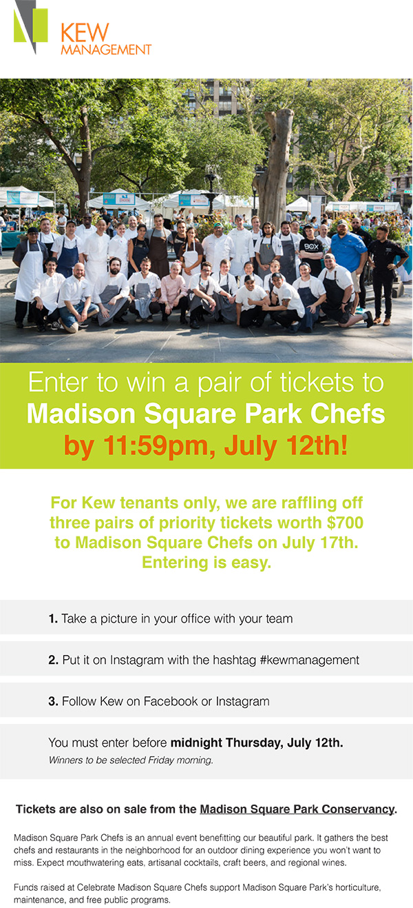 Enter to Win a Pair of Tickets to Madison Square Park Chefs