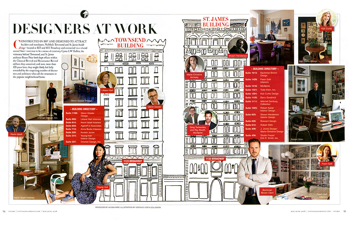 NYC&G Features Interior Designers of The Townsend & St James