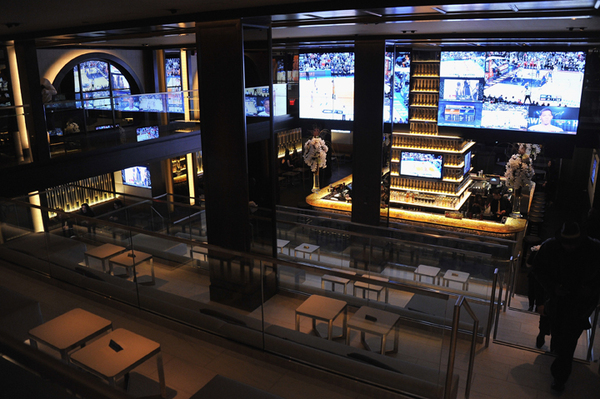 Inside of the new 40/40 club in new york
