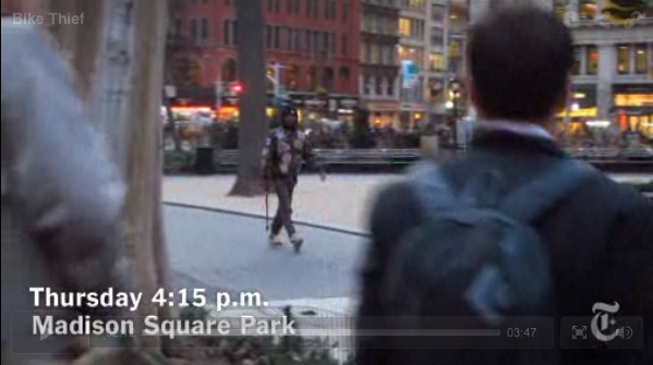 Casey Neistat Filming BIke Thief in Madsion Square Park